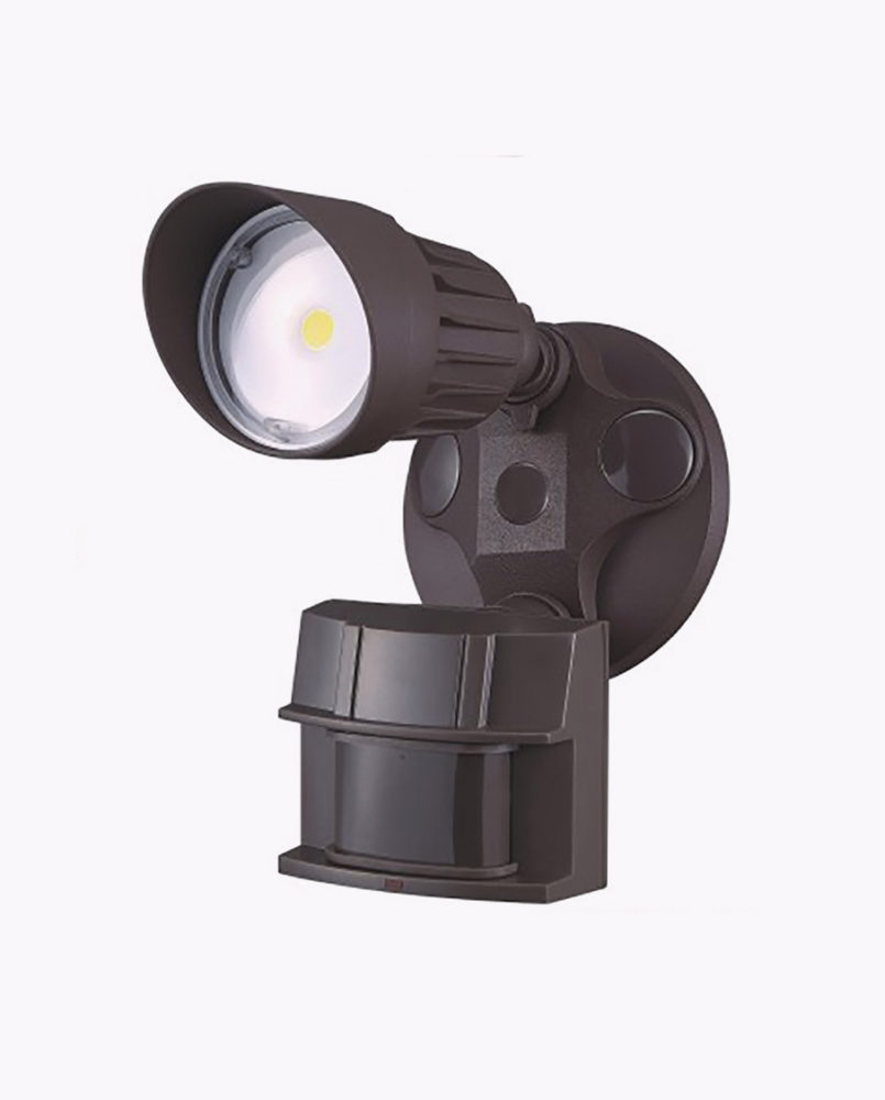 Lf10mh1 single head led motion security light cyber tech lighting a great choice for outdoor walkways garage areas back door entrances and more this single head security floor light is great to take care of your mozeypictures Images