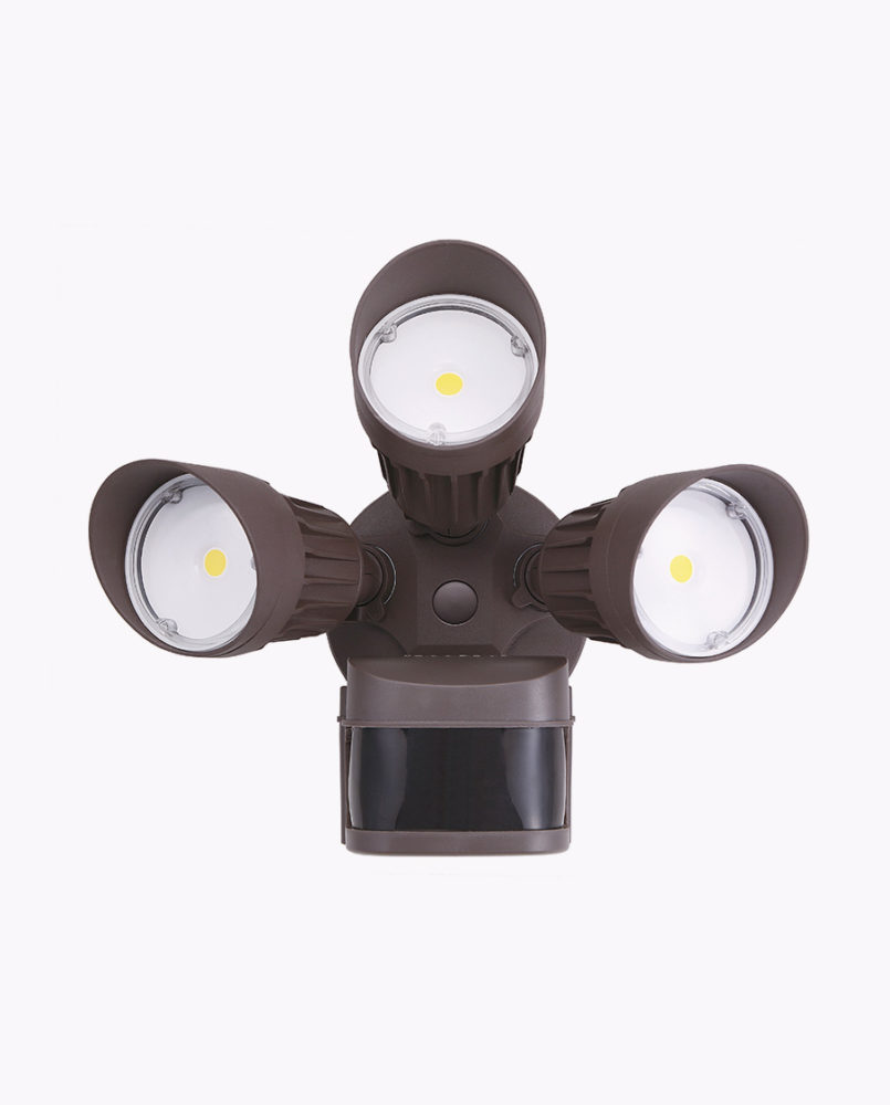 lf30mh3 wh dl triple head motion security light cyber tech lighting